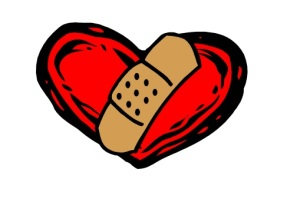 bandaid heart